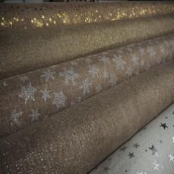 Tissu dorés et argentés